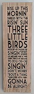 Comfort Ave Bob Marley Three Little Birds Lyrics Wood Carving
