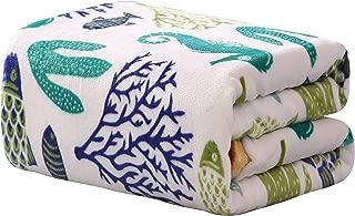 Décor&More Corales de Marina Blue Coral Seahorse Oceanic Microplush Throw Blanket (50