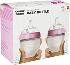 Comotomo Natural Feel Baby Bottle, 4 Pack (Pink, 5 Ounce)