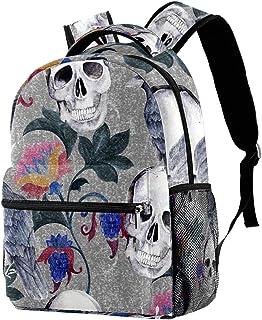حقيبة ظهر خفيفة الوزن حقيبة مدرسية للكلية حقيبة كمبيوتر محمول Daypack للبالغين والأطفال حقيبة ظهر كاجوال جمجمة الغراب