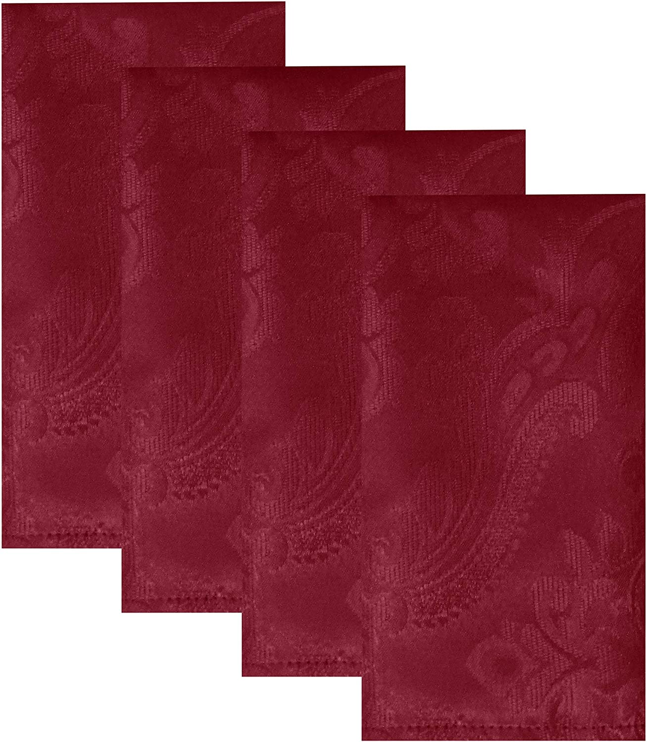 Elrene Online limited product Home Fashions Caiden Elegance Damask of Max 74% OFF Set Napkin 17
