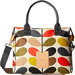 Orla Kiely - Matt Laminated Classic Multi Stem Zip Messenger
