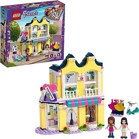 LEGO Friends 41427 LaBoutiquedeModed'Emma avec Mini Poupées et Accessoires, Jeu de Construction pour Enfant de 6 Ans et +