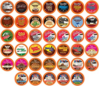 Two Rivers Chocoholic Coffee and Hot Chocolate Variety Pack Pods for Keurig K-Cup Brewers, 40 Count
