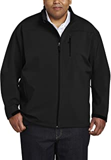 Amazon Essentials Men's Big & Tall Water-Resistant Softshell Jacket fit by DXL