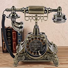Landline Phone with Rotary Dial - Retro Vintage Old Fashioned Resin Corded Phones Telephone Antique Receiver Old Fashion D... photo
