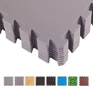comprar comparacion BodenMaxTapete colchoneta protectora de espuma EVA para Gimnasio Yoga o habitacion de niños – Lozas de espuma con bordes –...