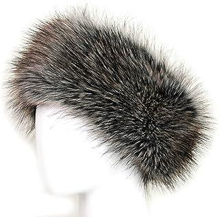KGM Accessories - Fascia per testa in pelliccia sintetica marrone Marrone 10cm wide