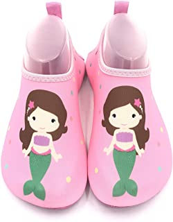Kids Swim Water Shoes Non-Slip Quick Dry Barefoot Aqua Pool Socks Shoes for Boys & Girls Toddler