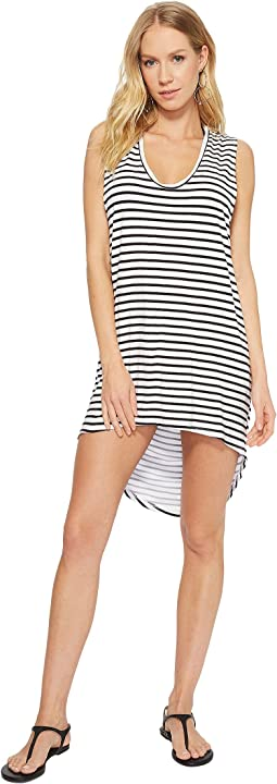 MIKOH SWIMWEAR Okinawa Striped Tank Cover-Up
