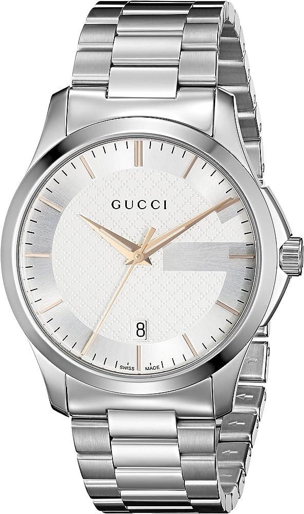 Gucci orologio uomo in acciaio inossidabile YA126442