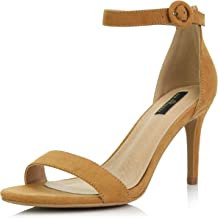 DailyShoes Women's Stilettos Open Toe Pump Ankle Strap Dress High Heel Sandals