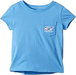 Swimming Whales Whale Fill Pocket Tee (Toddler/Little Kids/Big Kids)