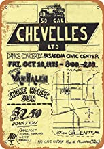 No dream Van Halen in Pasadena Cartel de Pared de Pintura de Hierro Cartel de Banda Vintage de Metal Carteles de Chapa Placa de Marcas Retro para jardín Oficina