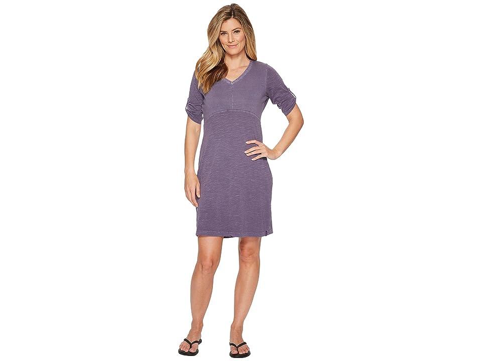 Woolrich First Forks Convertible Sleeve Dress (Violet Indigo) Women
