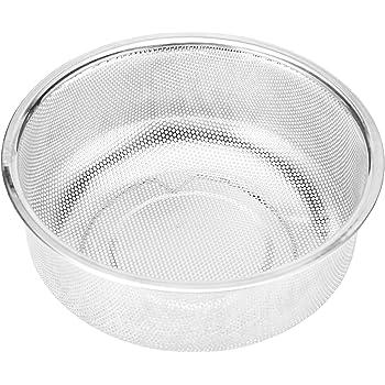 洗米 ざる 水切り 18-8ステンレス ザル 蒸し器 米とぎボール ストレーナー 18cm