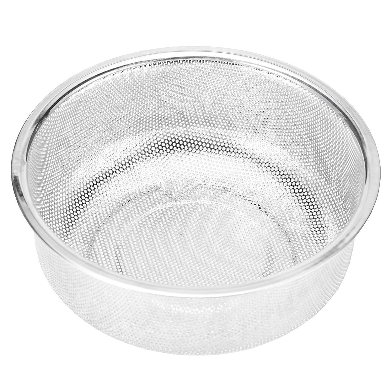 たるみカトリック教徒肥料洗米 ざる 水切り 18-8ステンレス ザル 蒸し器 米とぎボール ストレーナー 18cm