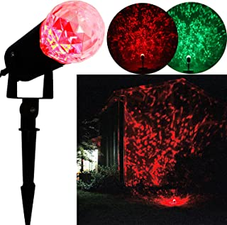 Rotating Outdoor LED Spotlight Gemmy Light Show Red and Green for Christmas Decorations Holiday Kaleidoscope Projection Light