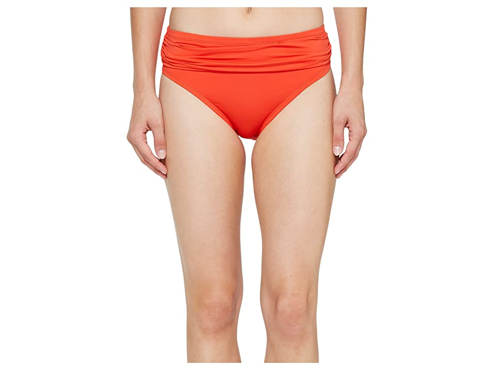 Tommy Bahama Pearl High-Waist Hipster Bikini Bottom (Valencia Orange) Women