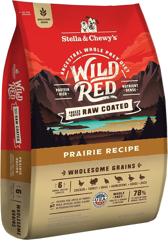 Stella Chewy's Wild Red Raw Food Coated 4 Washington Mall years warranty Kibble Dry Dog