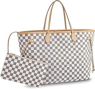 cca0c01511f Neverfull Style Canvas Woman Organizer Handbag Azur Tote Shoulder Fashion  Bag GM Size by LAMB