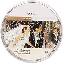 Simplicity Pop Out Wedding Send Off Streamer Tubes, 14 pc, 4.2''H
