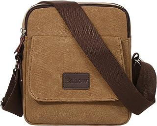 Eshow Men's Canvas Messenger Bag Shoulder bags Mens satchel bag Cross body Bag