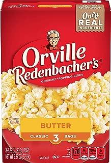 Orville Redenbacher's Butter Popcorn, Classic Bag, 3 Count per Box, 9.87 Oz, Pack of 12