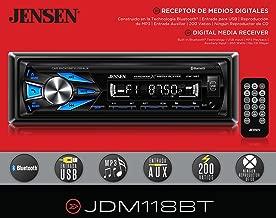 Jensen JDM118BT AM/FM Digital Media Receiver with Built-in Bluetooth (No CD PLayer)
