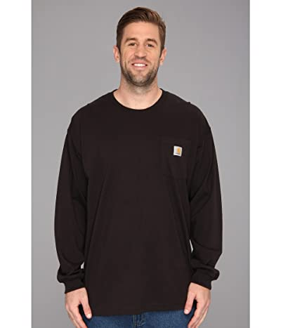 Carhartt Workwear Pocket L/S Tee (3XL/4XL) (Black) Men
