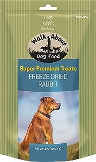 Walk About Freeze Dried Dog Treats, Rabbit Recipe, 4 Ounces Each