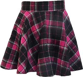 Winter Maiden Woolen Plaid Skirt/Womens Lady Sweet Short Princess Dress/Pleated School Uniform Skirt