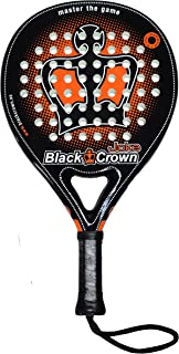Black Crown Joke - Pala de Padel, Adultos Unisex, Negro/Naranja, L