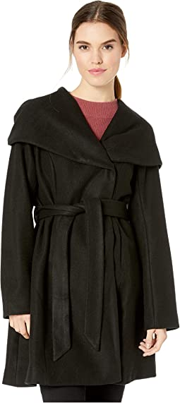 Belted Wool Coat w/ Oversized Hood