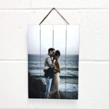 Artblox Personalized Photo Print on Wood Pallet - Customized with Your Photo Wall Art - HD Digital Prints - (12
