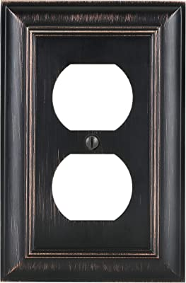 Bates- Duplex Outlet Cover, Bronze, Outlet Covers, Bronze Outlet Covers, Decorative Outlet Covers, Metal Outlet Covers, Electrical Outlet Cover Plates, Wall Outlet Cover, Wall Plates, Outlet Plate