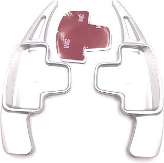 Funda de Palanca de Cambios de Cuero Protector para MAGOTAN 09-11 CC 2010 automatico pomos Palanca de Cambios DSG Shifter con Costuras en Rojo Tipo M