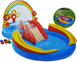 انتكس قوس قزح حلقة قابل للنفخ لعب مركز ماء ماء لعب قابل للنفخ الصيف التجديف بركة للأطفال