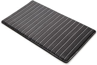Microdry 10807 Memory Foam Softlux Skid-Resistant Bath Mat, 21 x 34 in, Charcoal