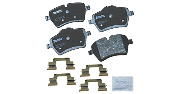 with Installation Hardware Front Bendix Premium Copper Free CFC1204 Premium Copper Free Ceramic Brake Pad