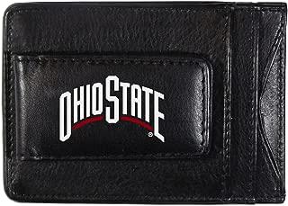 Siskiyou NCAA Ohio State Buckeyes Logo Leather Cash and Cardholder, Black
