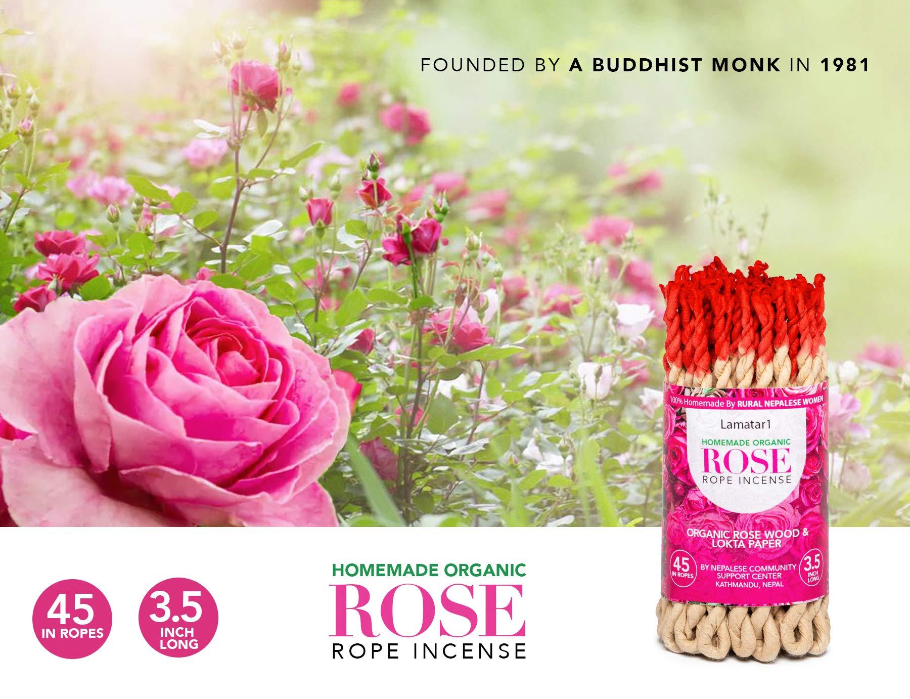 Rose Rope   Handmade Rope Tibetan Incense