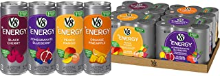 V8 +Energy Variety Pack, Healthy Energy Drink, Pomegranate Blueberry, Orange Pineapple, Peach Mango, Black ...
