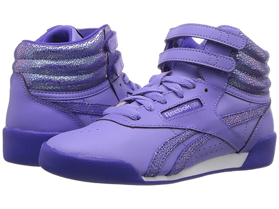 Reebok Kids Freestyle Hi (Little Kid) (Moonpool/Ultima Purple) Girl