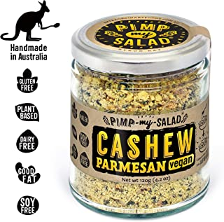 PIMP MY SALAD Vegan Cashew Parmesan Cheese Substitute | Keto, Gluten Free, Paleo, Dairy Free | Meal & Salad Toppers, Snacks Made with Whole Food Ingredients | Eco Jar | 4.2 oz