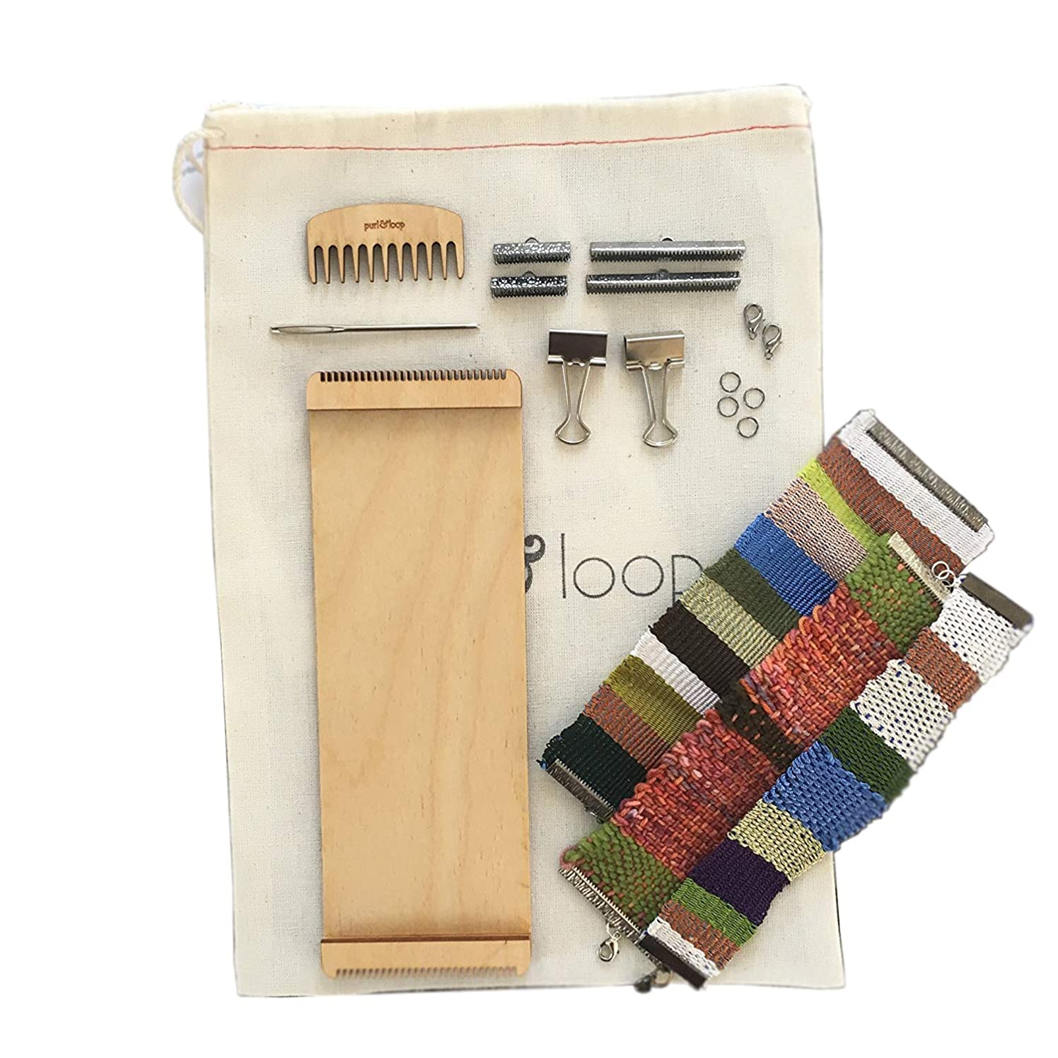 Purl & Loop Birch Stash Blaster Weaving Loom (Bracelet Loom 10.0 Starter Package)