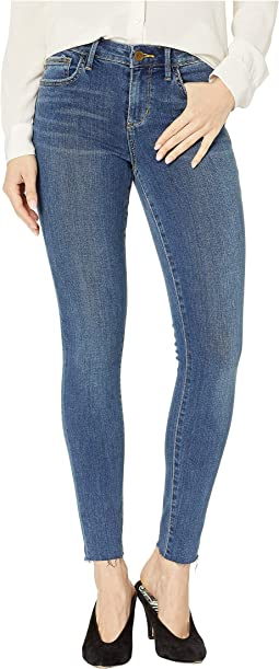 Kitten Mid-Rise Ankle Skinny w/ Raw Hem in Alex
