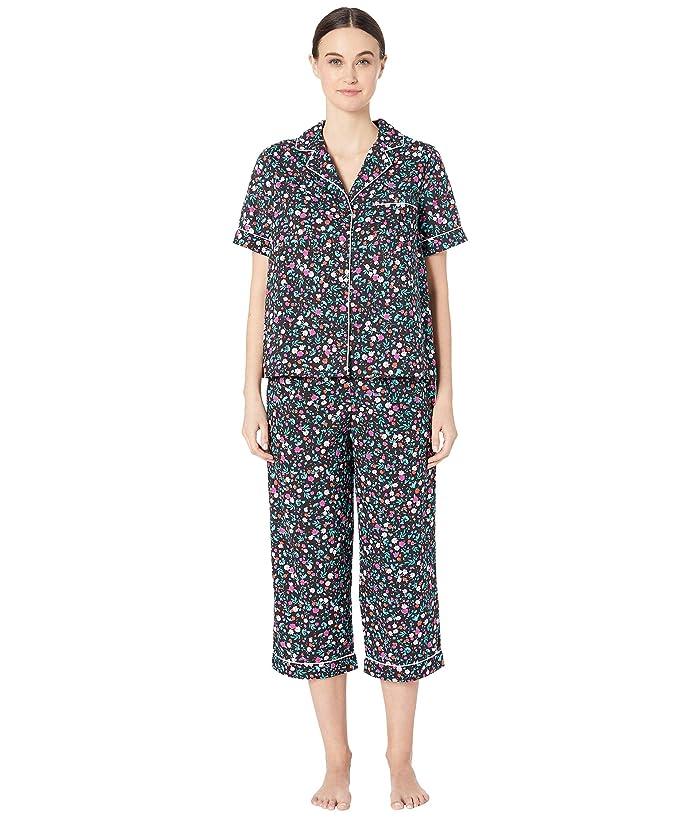 Kate Spade New York Cotton Lawn Cropped Pajama Set (Ditsy Flora) Women