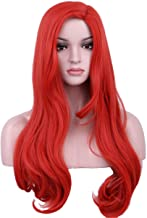 Yilys Long Wave Red Anime Cosplay Wig Halloween Costumes For Women Girls
