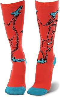 Dr. Seuss Fox in Socks Knee High Costume Socks Red